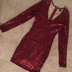 Windsor Red Sequined Dress
